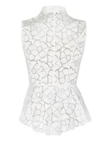 Organza shirt with peplum trim