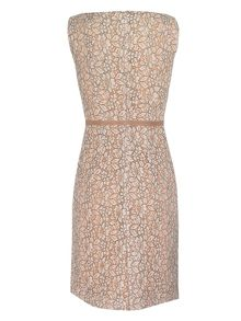 Yanny London Sleeveless cream lace dress
