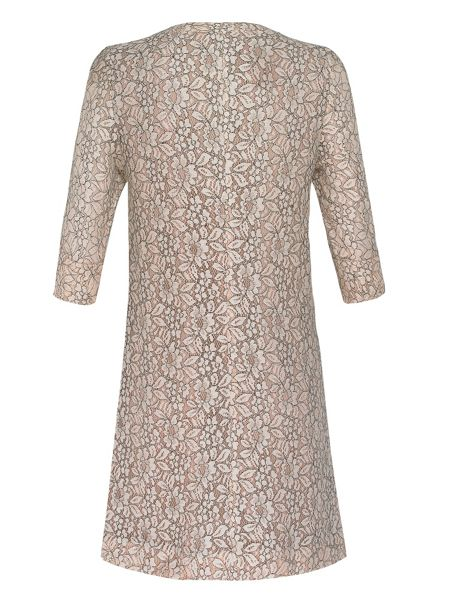 Yanny London 3/4 sleeve lace shift dress