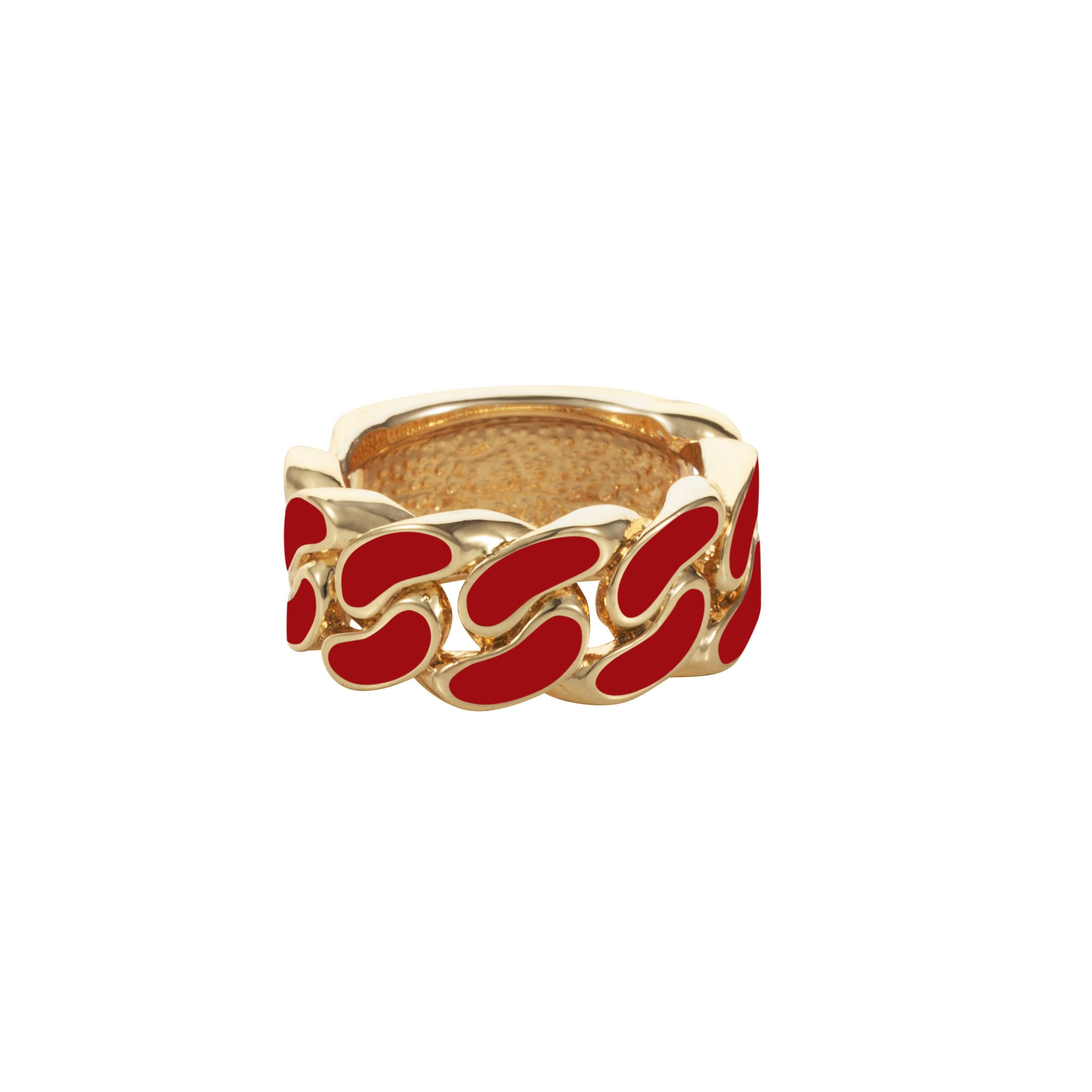 Red id plate ring
