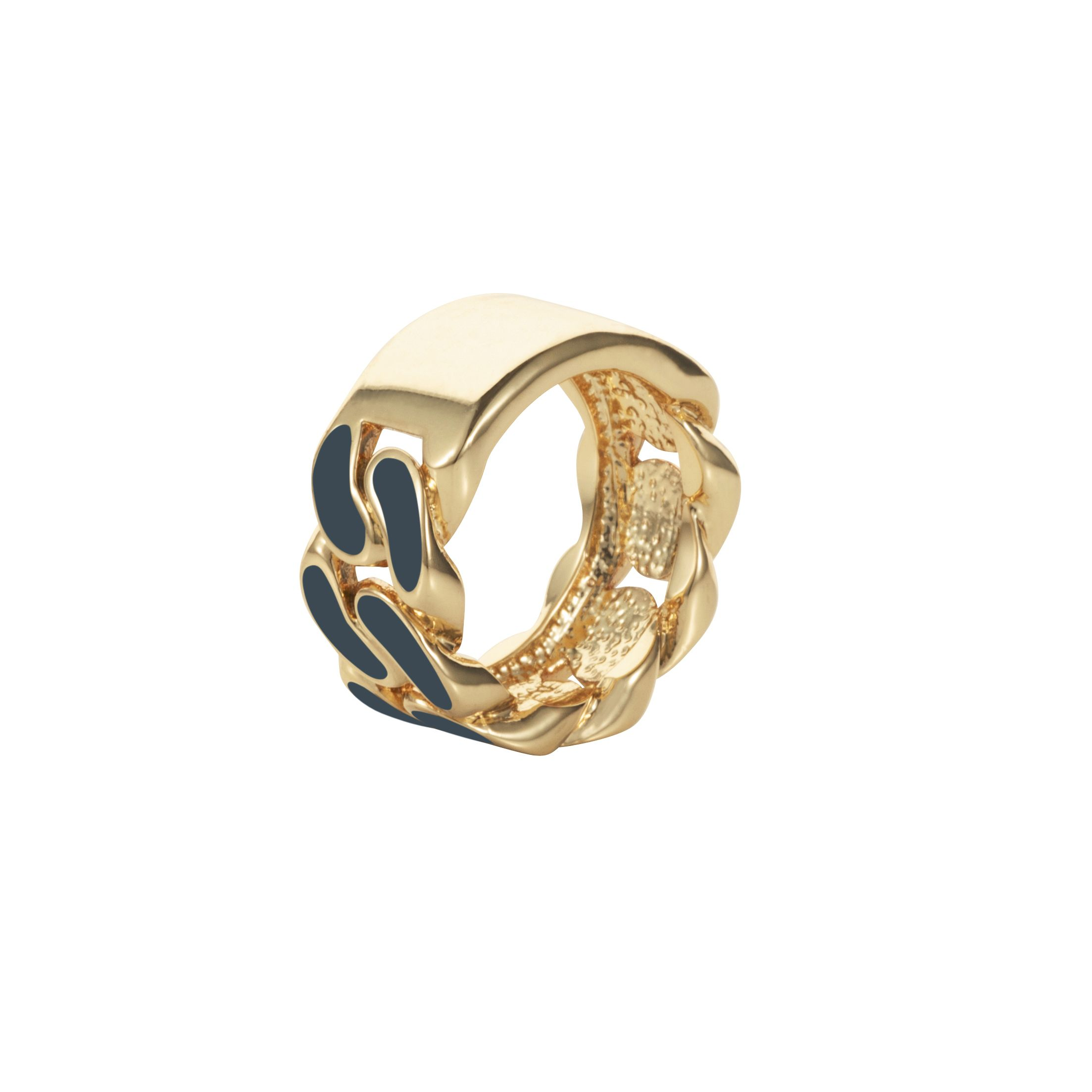 Dark blue id plate ring