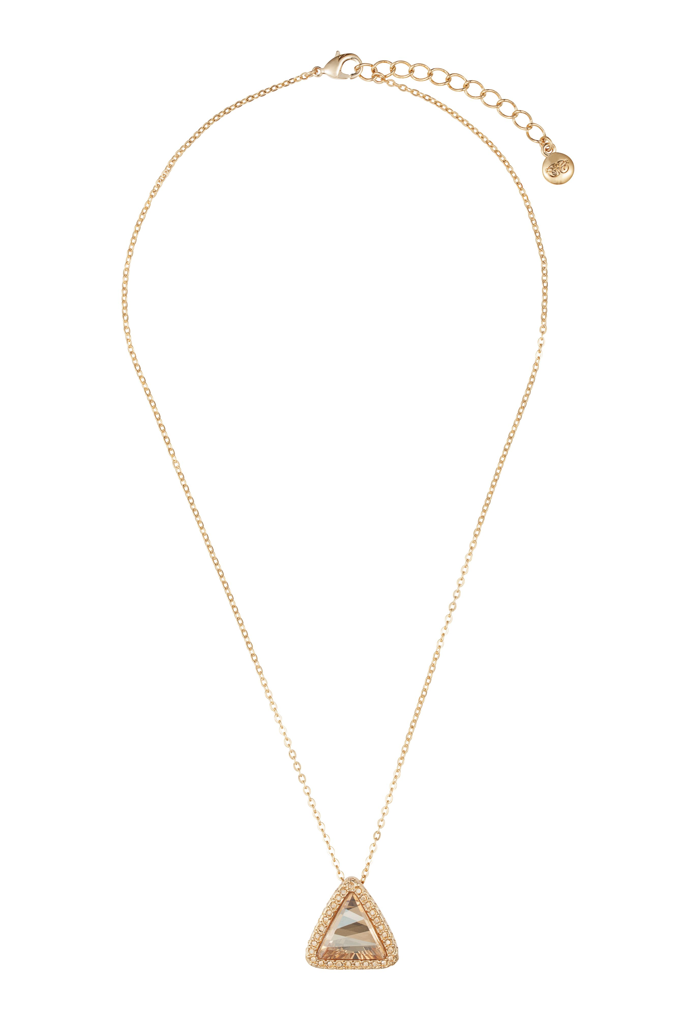 18ct gold plated titania fancy triangle pendant