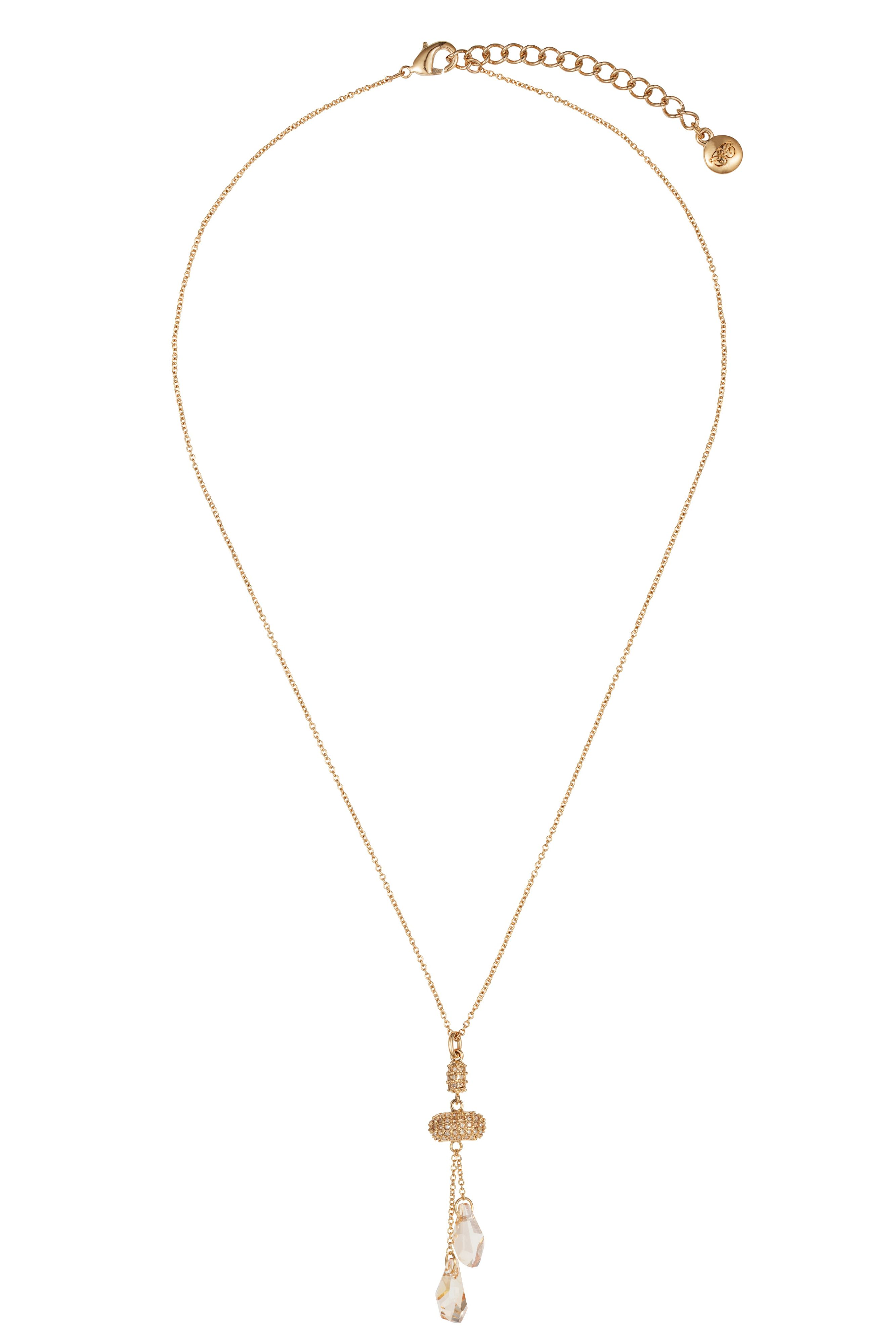 18ct gold plated titania fancy drop pendant