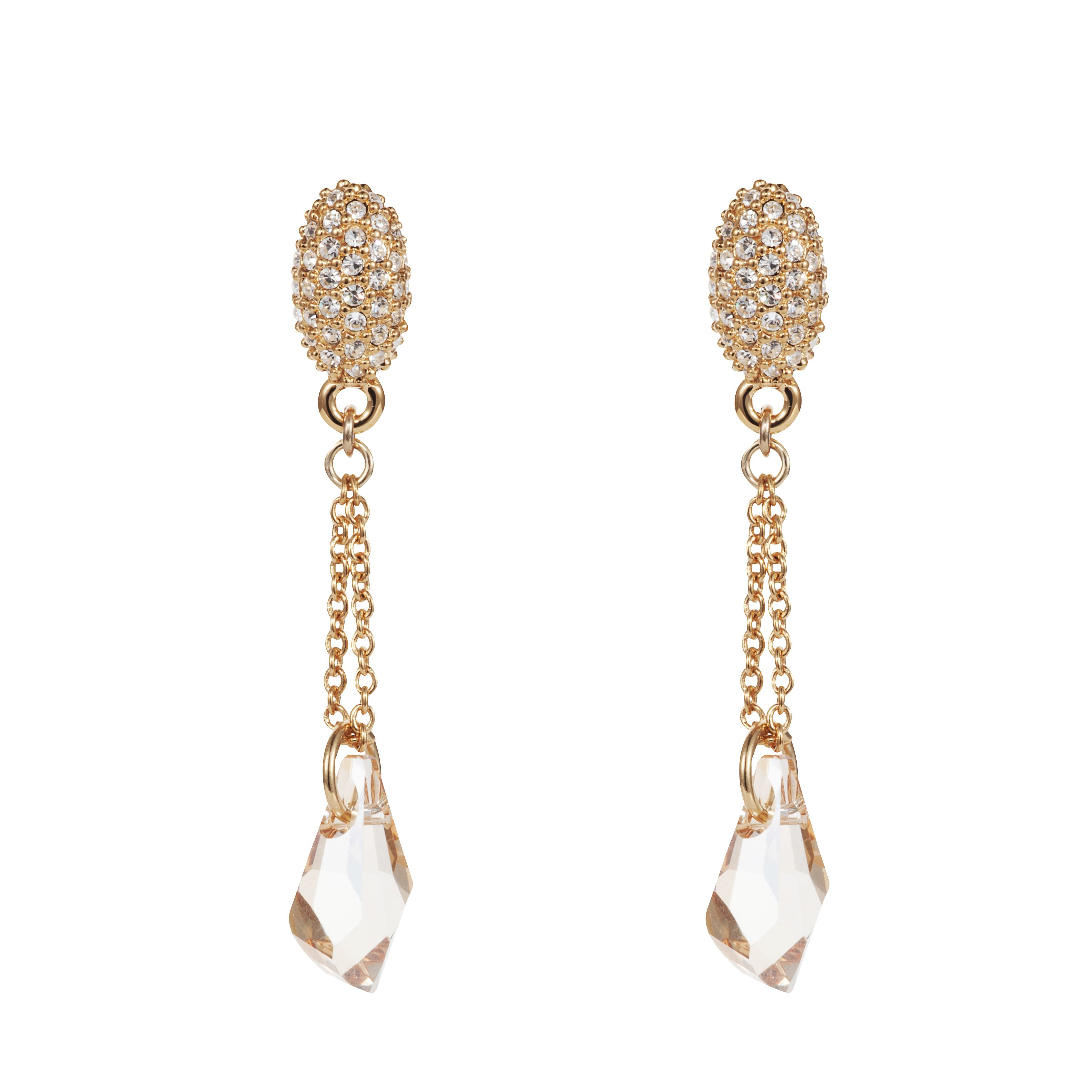 18ct gold plated titania fancy drop earrings