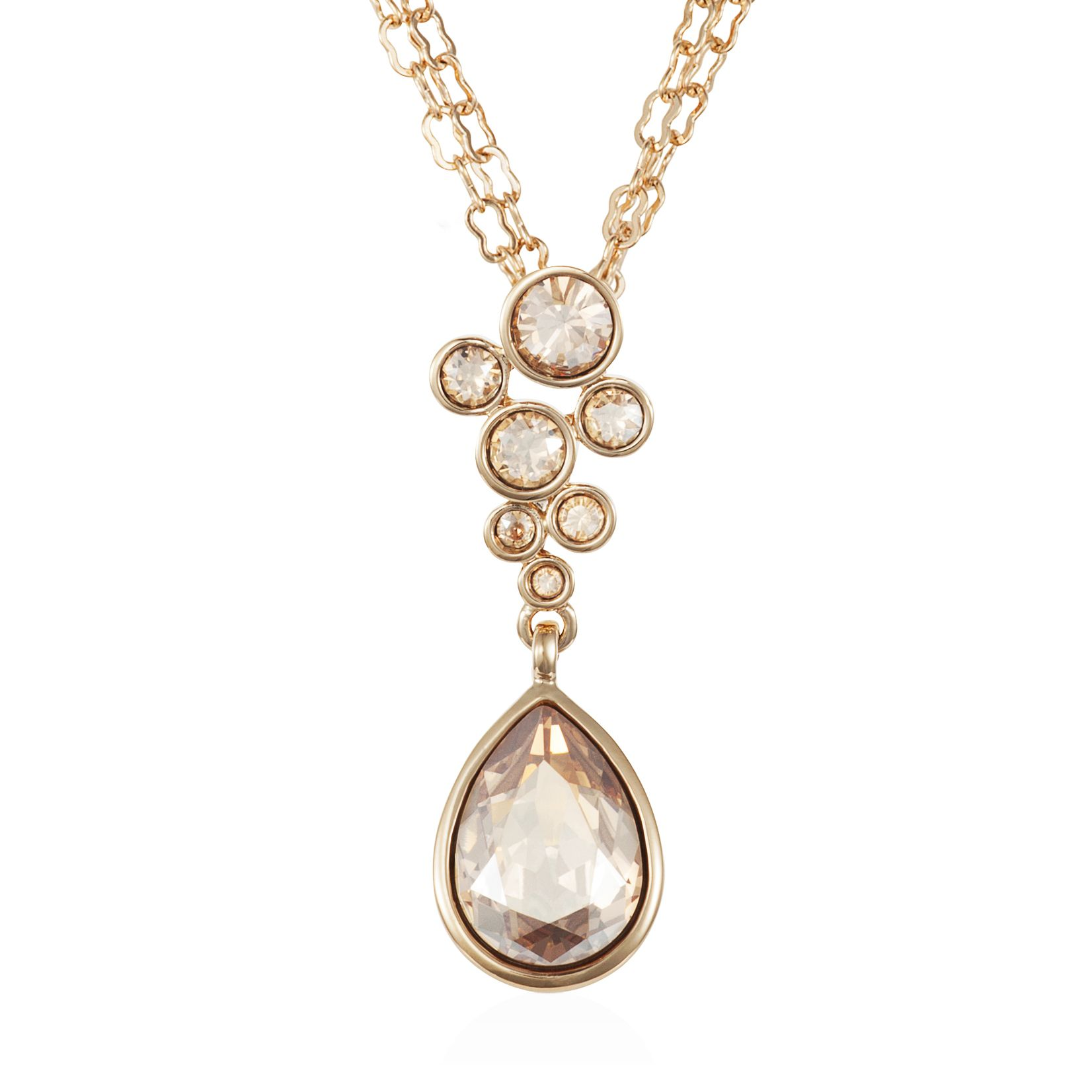18ct gold plated titania multibubble pendant