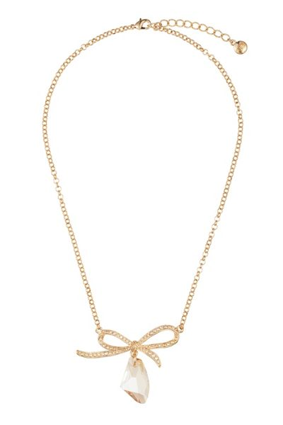 Caroline Creba 18ct gold plated titania fancy bow pendant