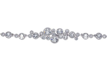 Caroline Creba Rhodium plated titania multi bubble bracelet