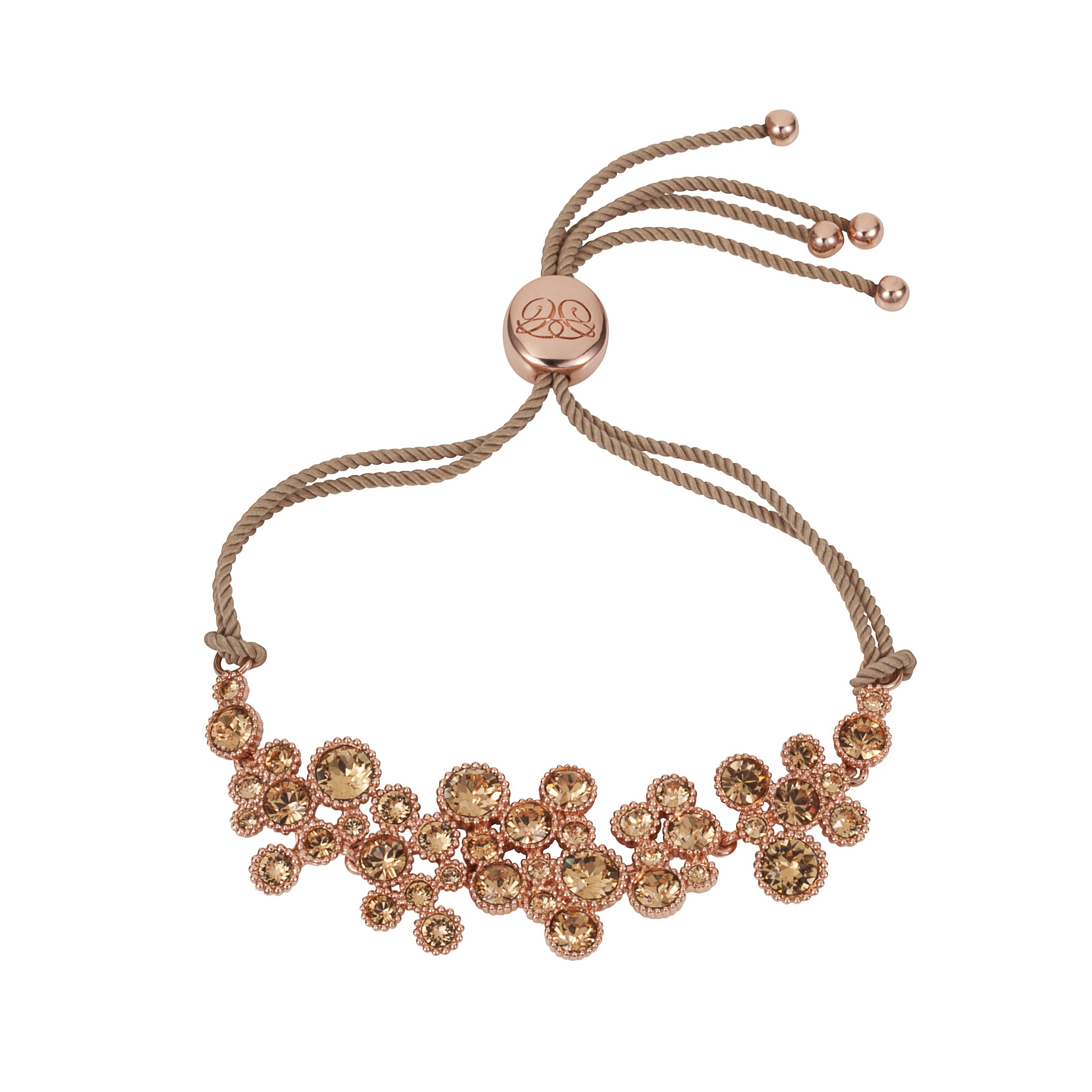 18ct rose gold plated titania friendship bracelet