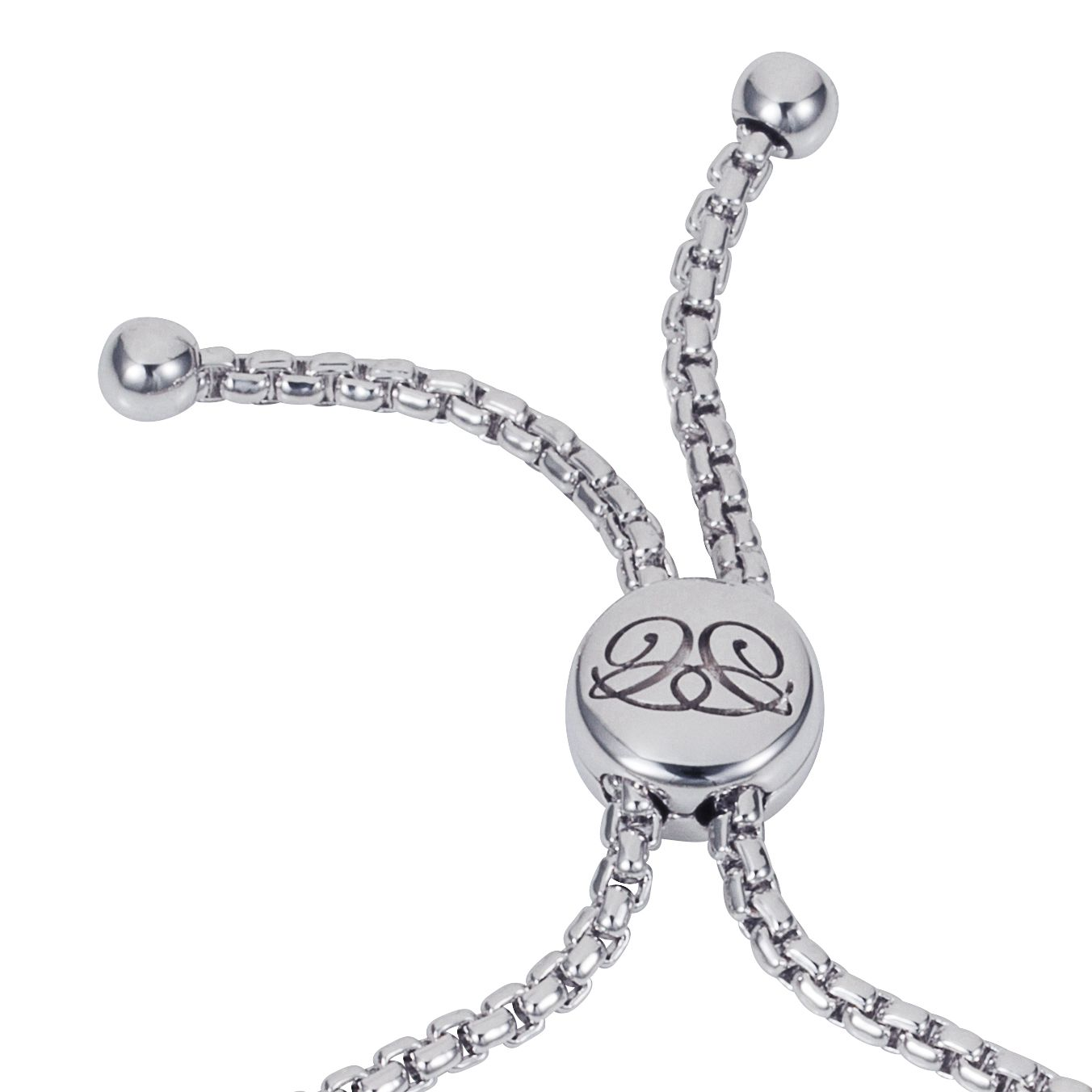 Rhodium plated titania friendship bracelet