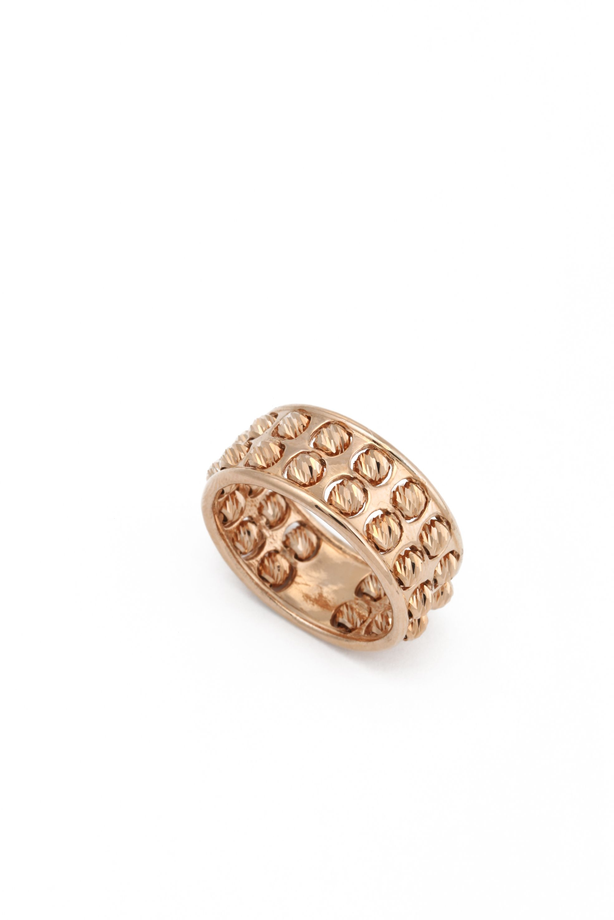 Handmade diamond cut 24ct rose gold classic ring