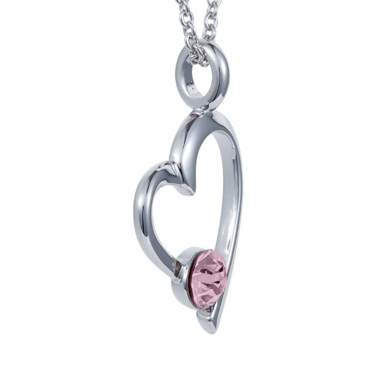 Open heart pendant
