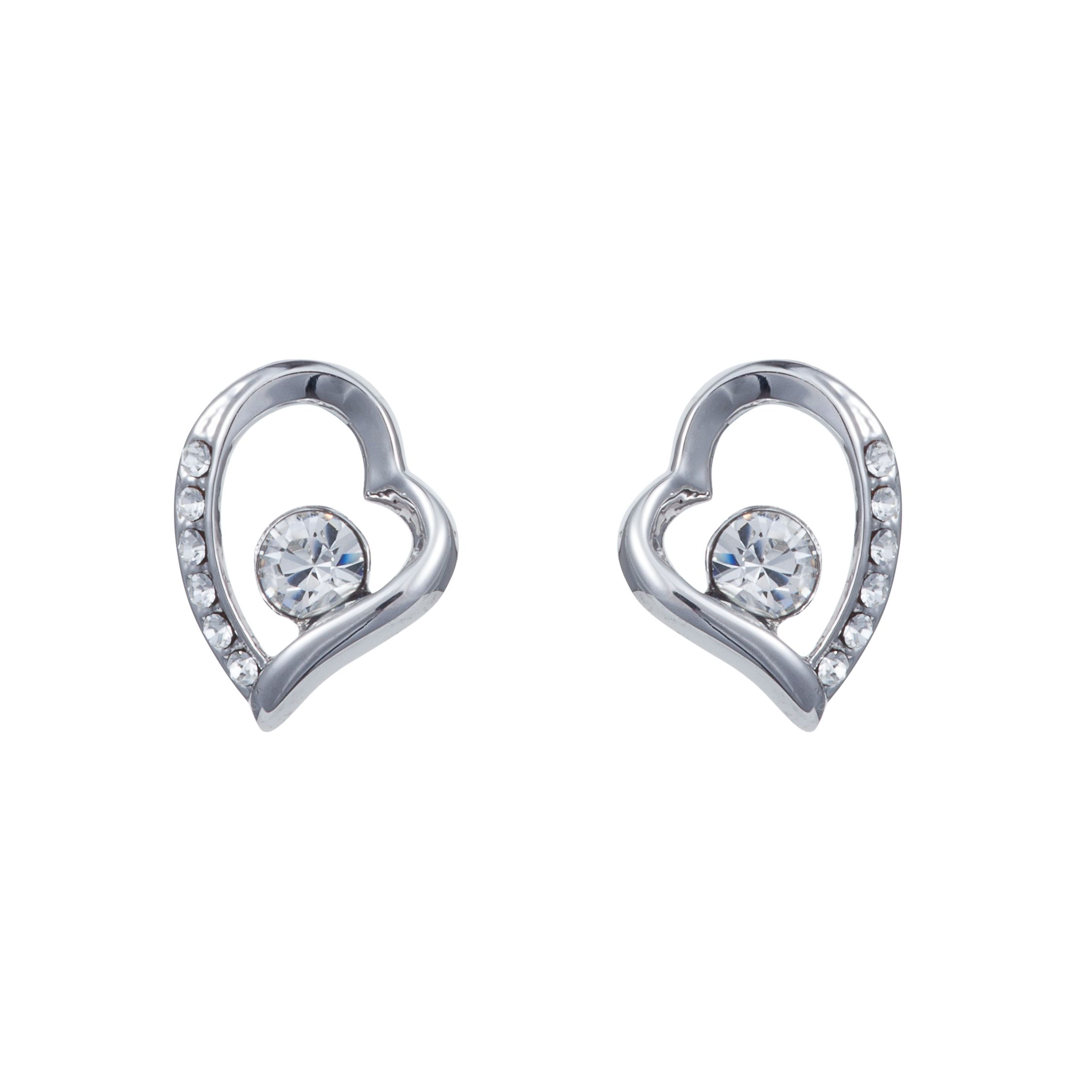 Tapered heart earring