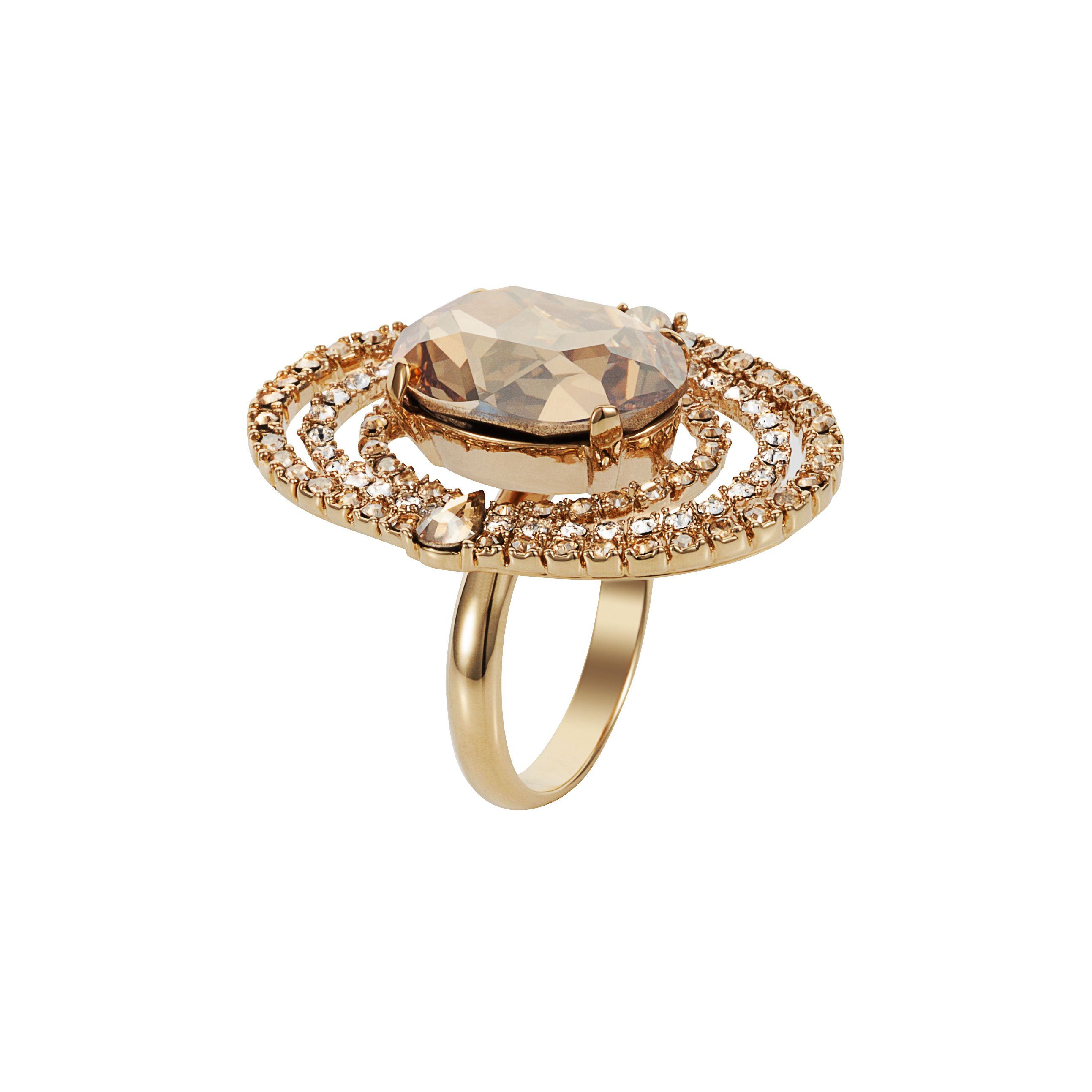 Handmade 18ct gold crystal evolution ring