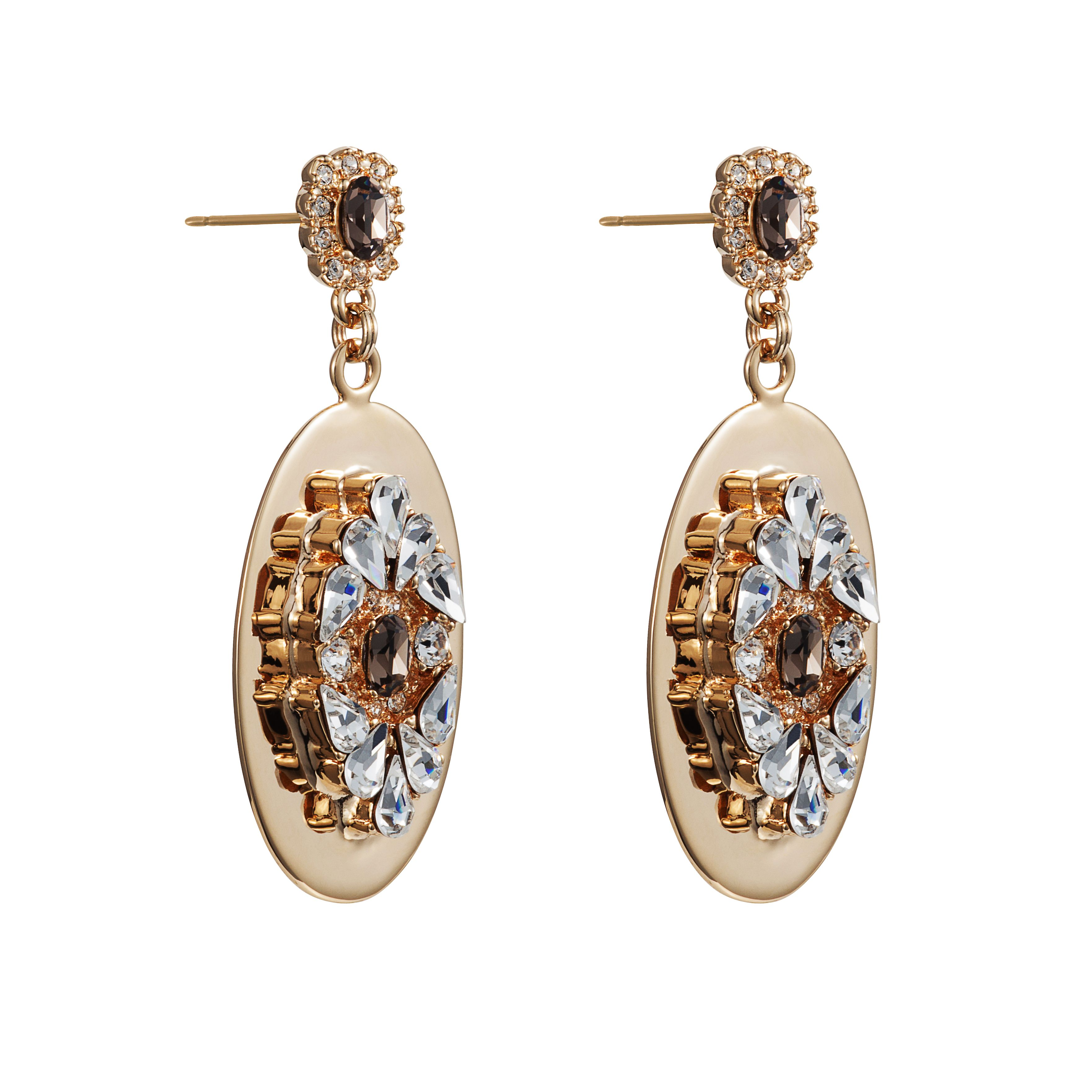 Handmade 18ct gold crystal mix earrings.