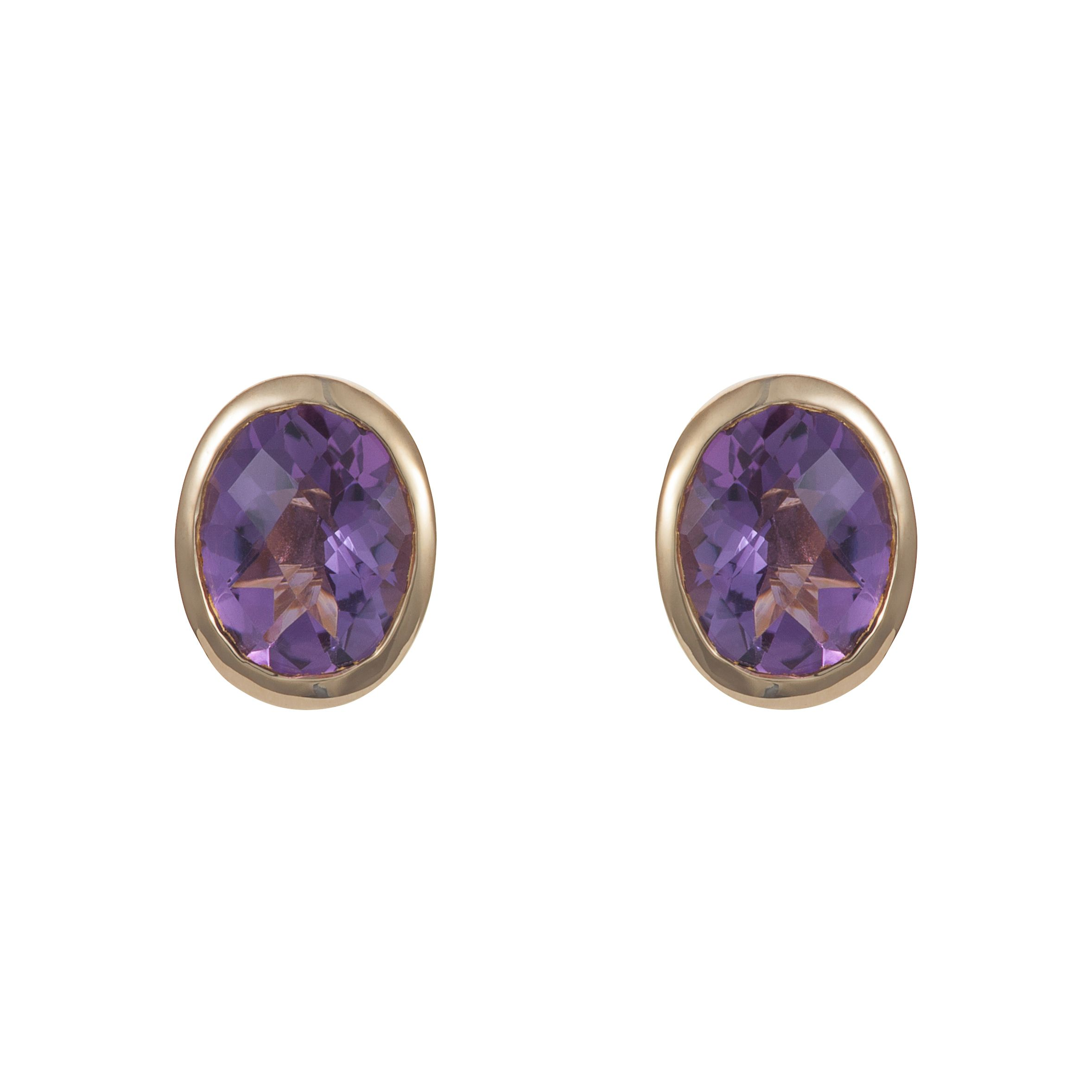 18ct gold plated sterling silver 4.5ct amethyst e