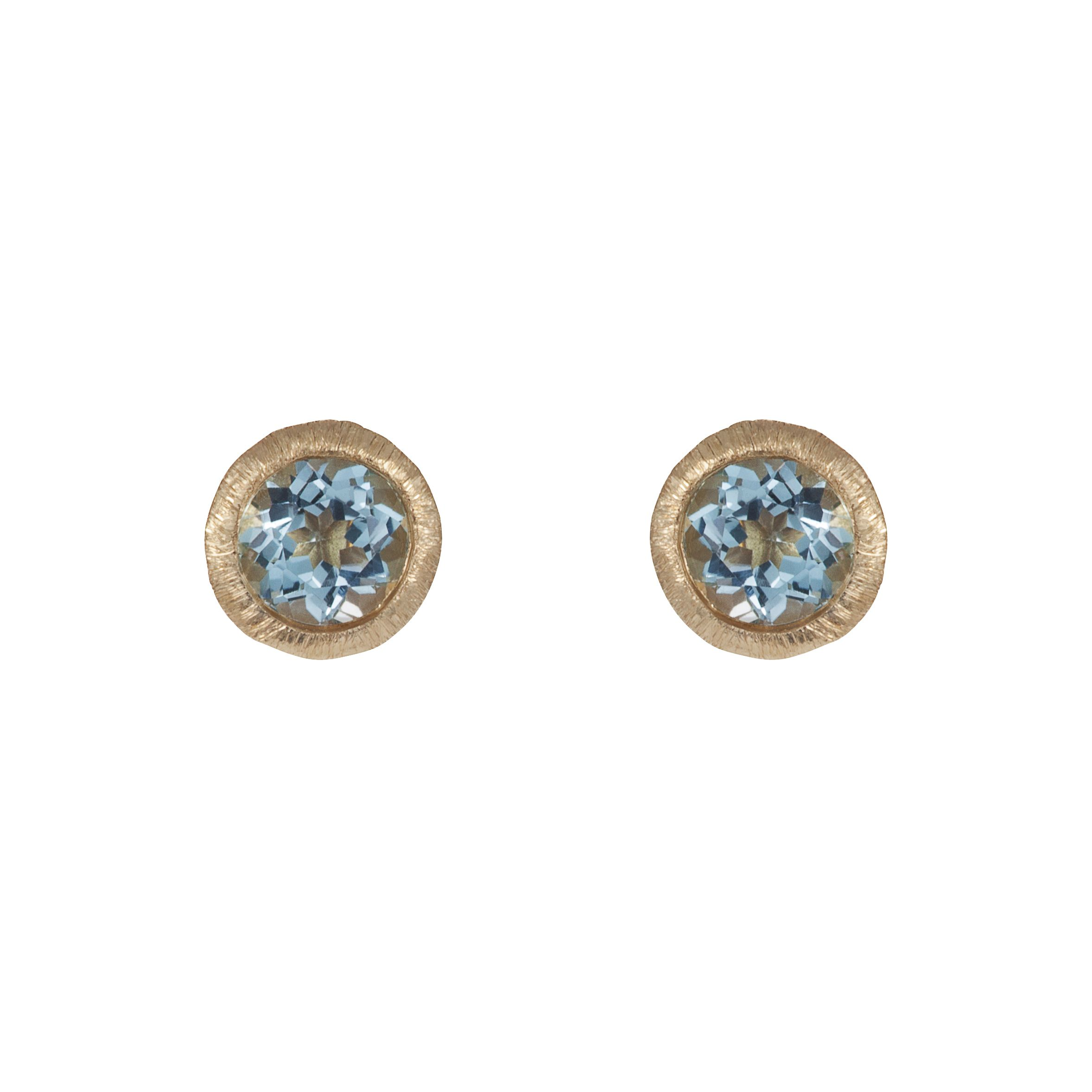 18ct gold plated sterling silver 2ct blue topaz
