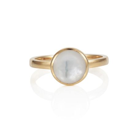 Caroline Creba 18ct gold plated sterling silver 2ct mother of pe