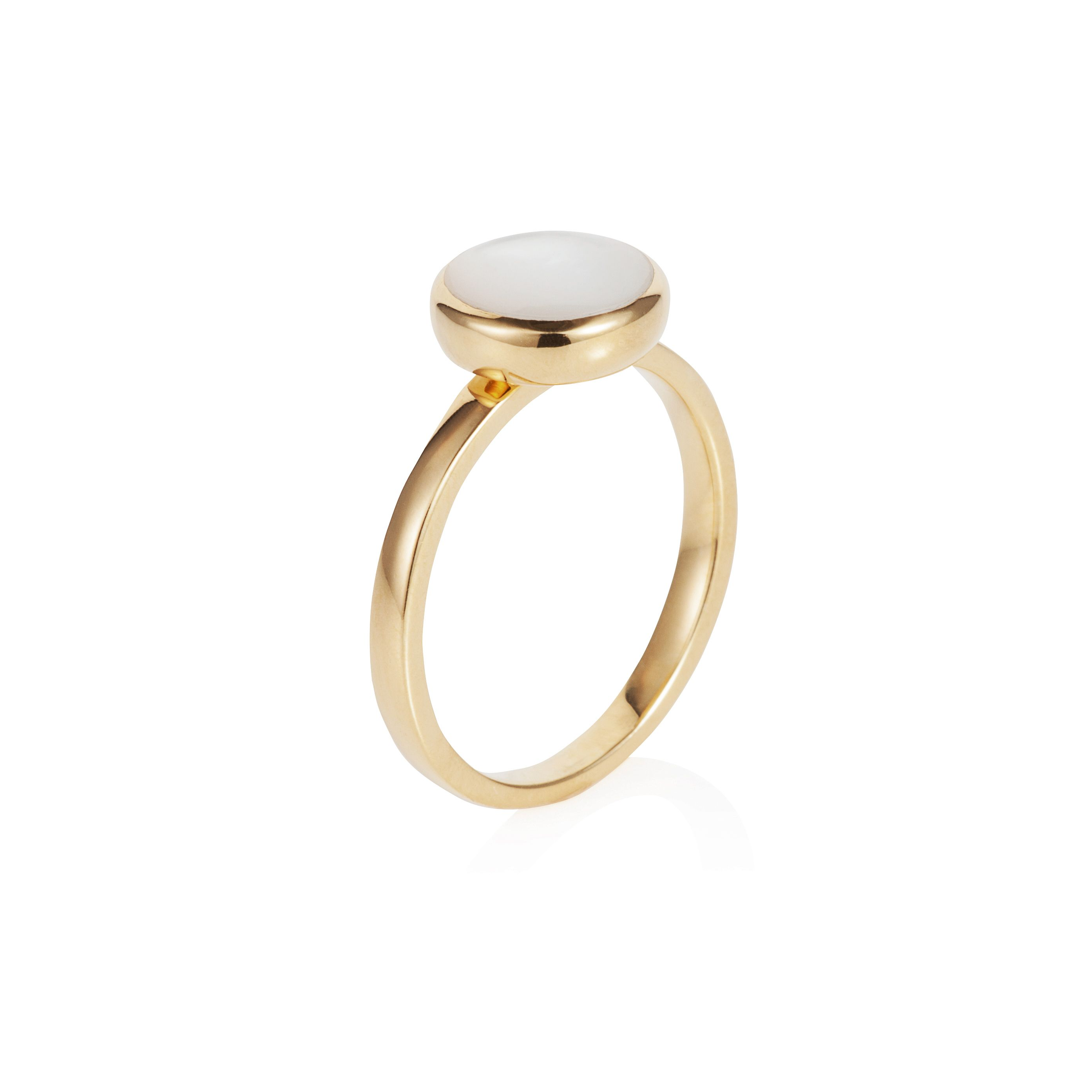 18ct gold plated sterling silver 2ct mother of pe