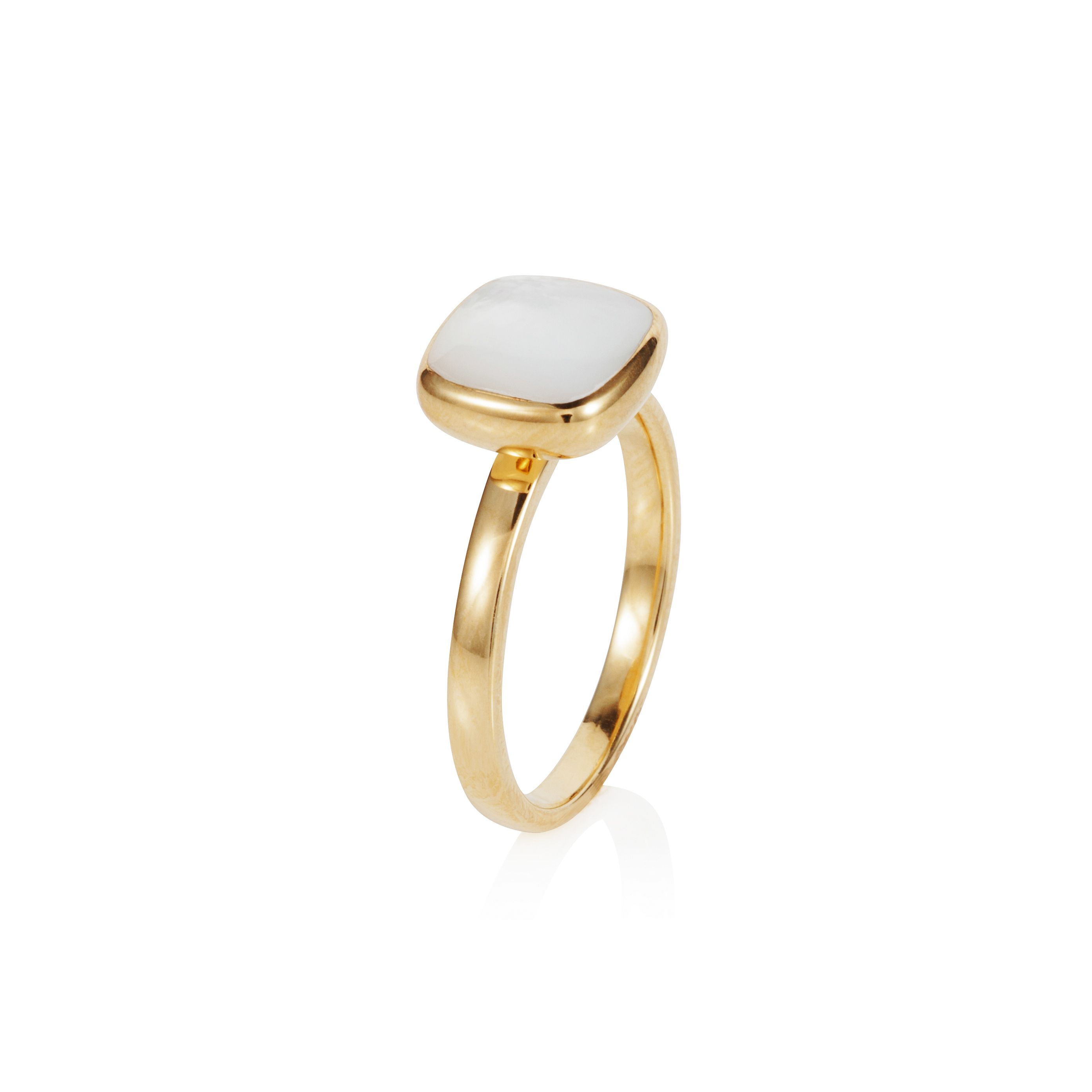 18ct gold plated sterling silver 2.50ct mother of