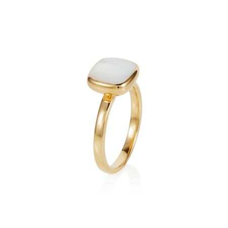 Caroline Creba 18ct gold plated sterling silver 2.50ct mother of
