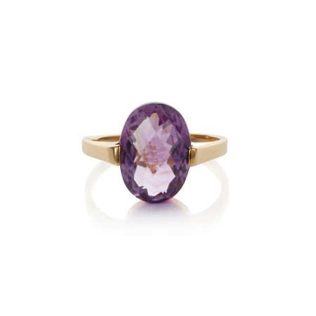 Caroline Creba 18ct gold plated sterling silver 4.50ct amethyst