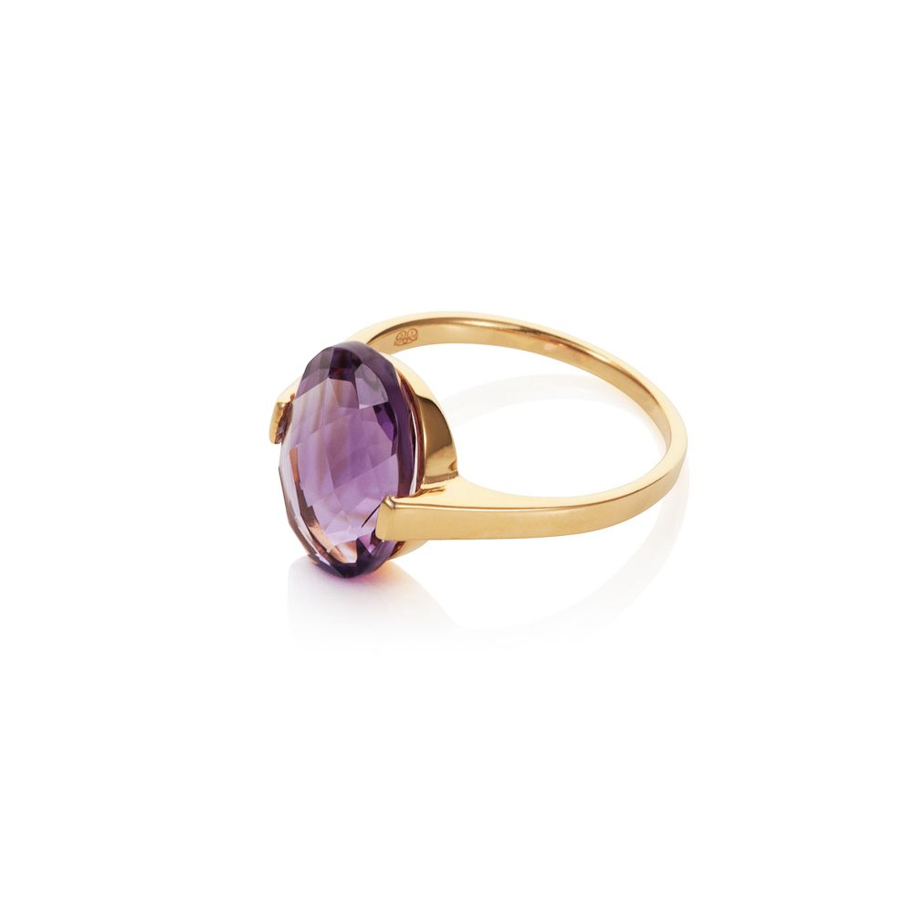 18ct gold plated sterling silver 4.50ct amethyst