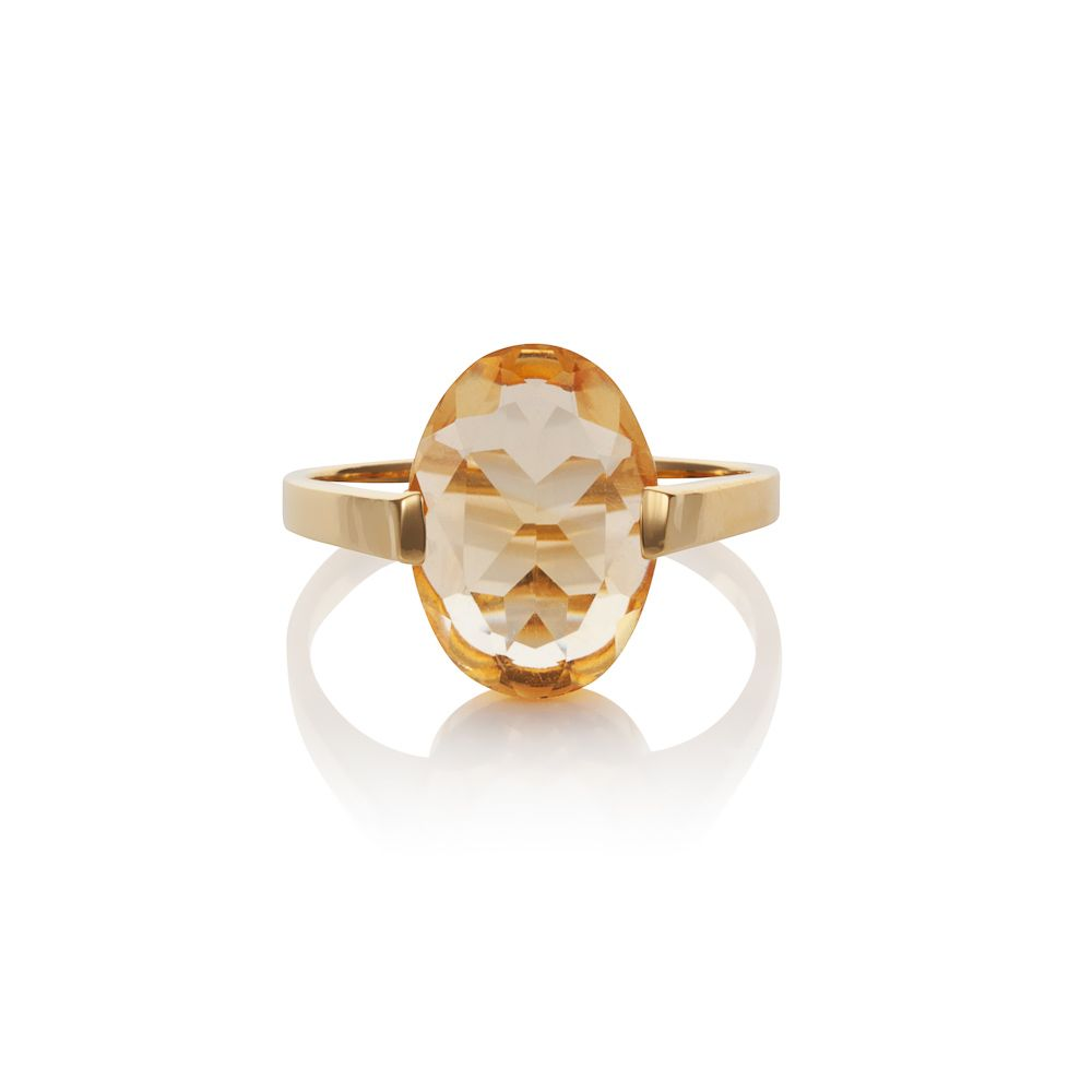 18ct gold plated sterling silver 4.50ct citrine