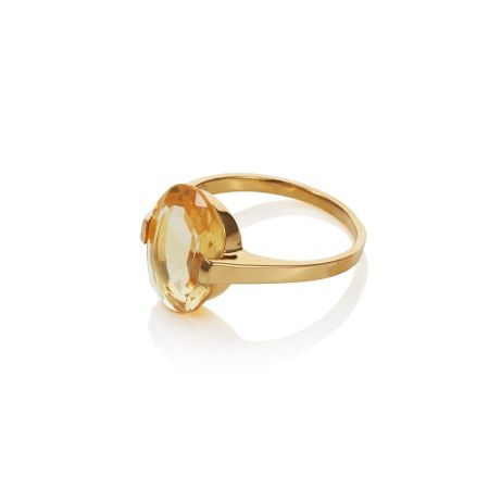 Caroline Creba 18ct gold plated sterling silver 4.50ct citrine