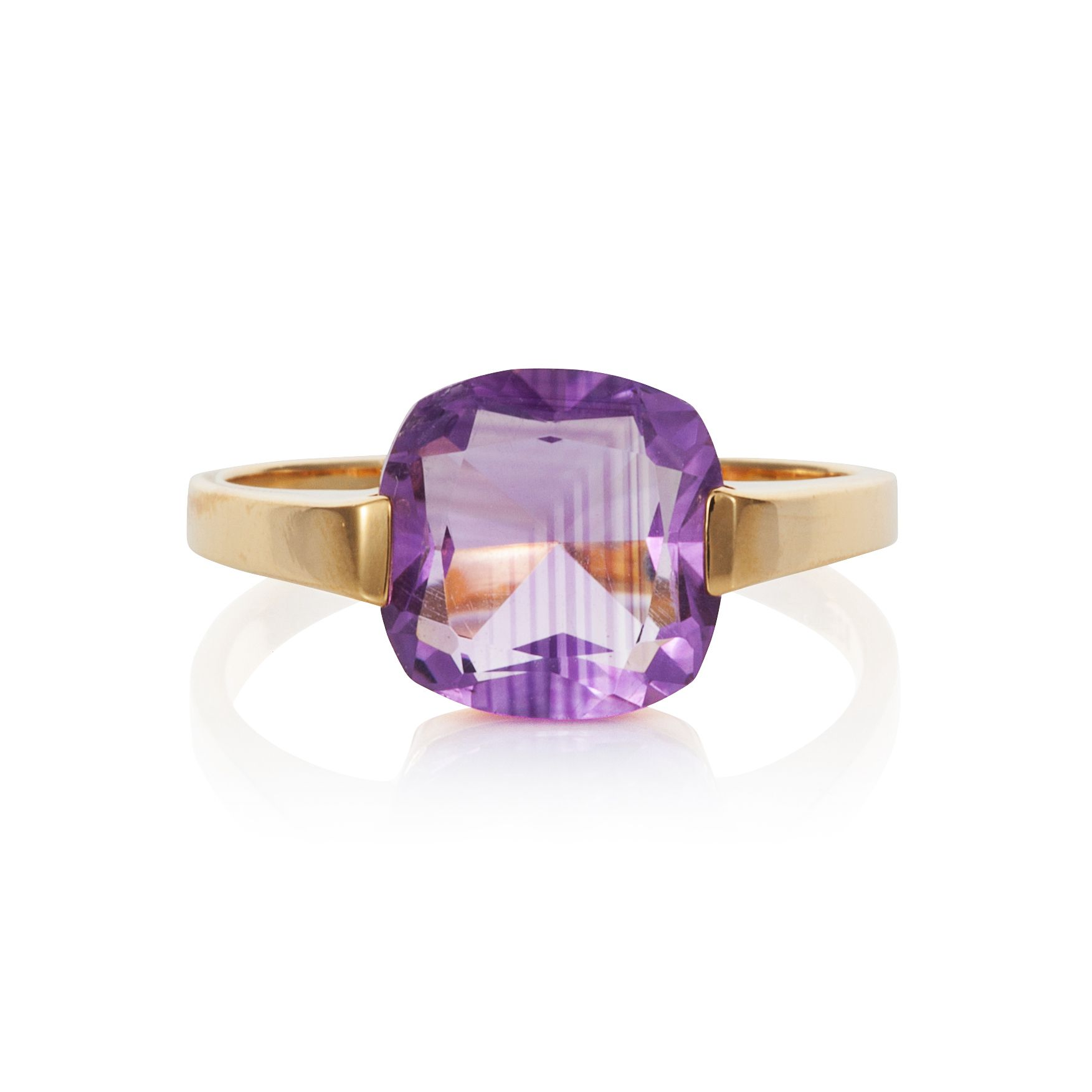 18ct gold plated sterling silver 3ct amethyst  ri