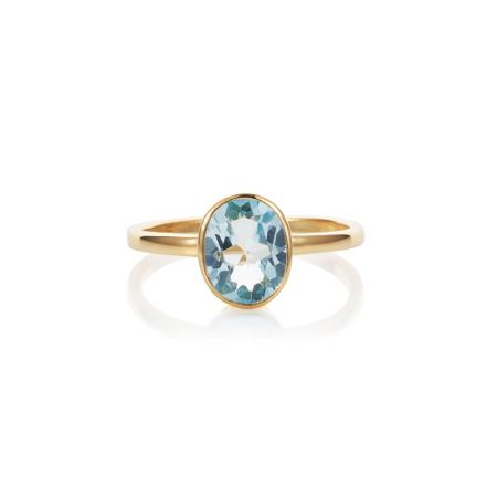 Caroline Creba 18ct gold plated sterling silver 2.80ct blue topa