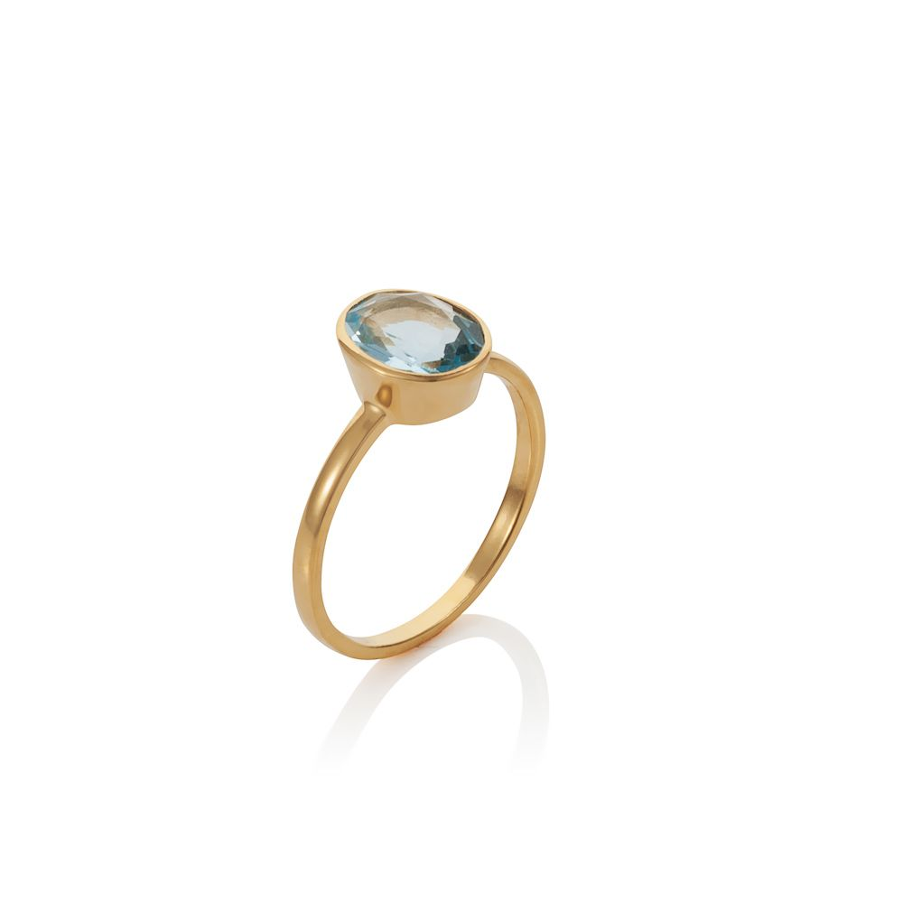 18ct gold plated sterling silver 2.80ct blue topa