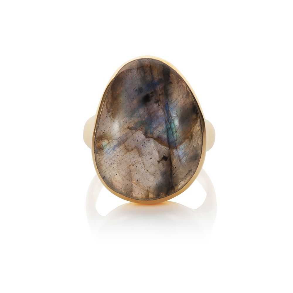 18ct gold plated sterling silver 12ct labradorite