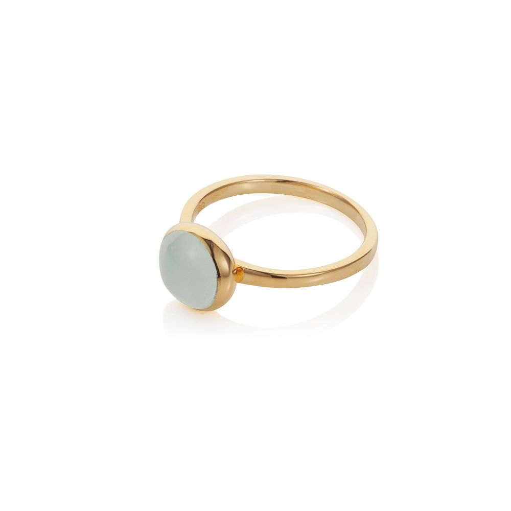 18ct gold plated sterling silver 2ct aqua quartz