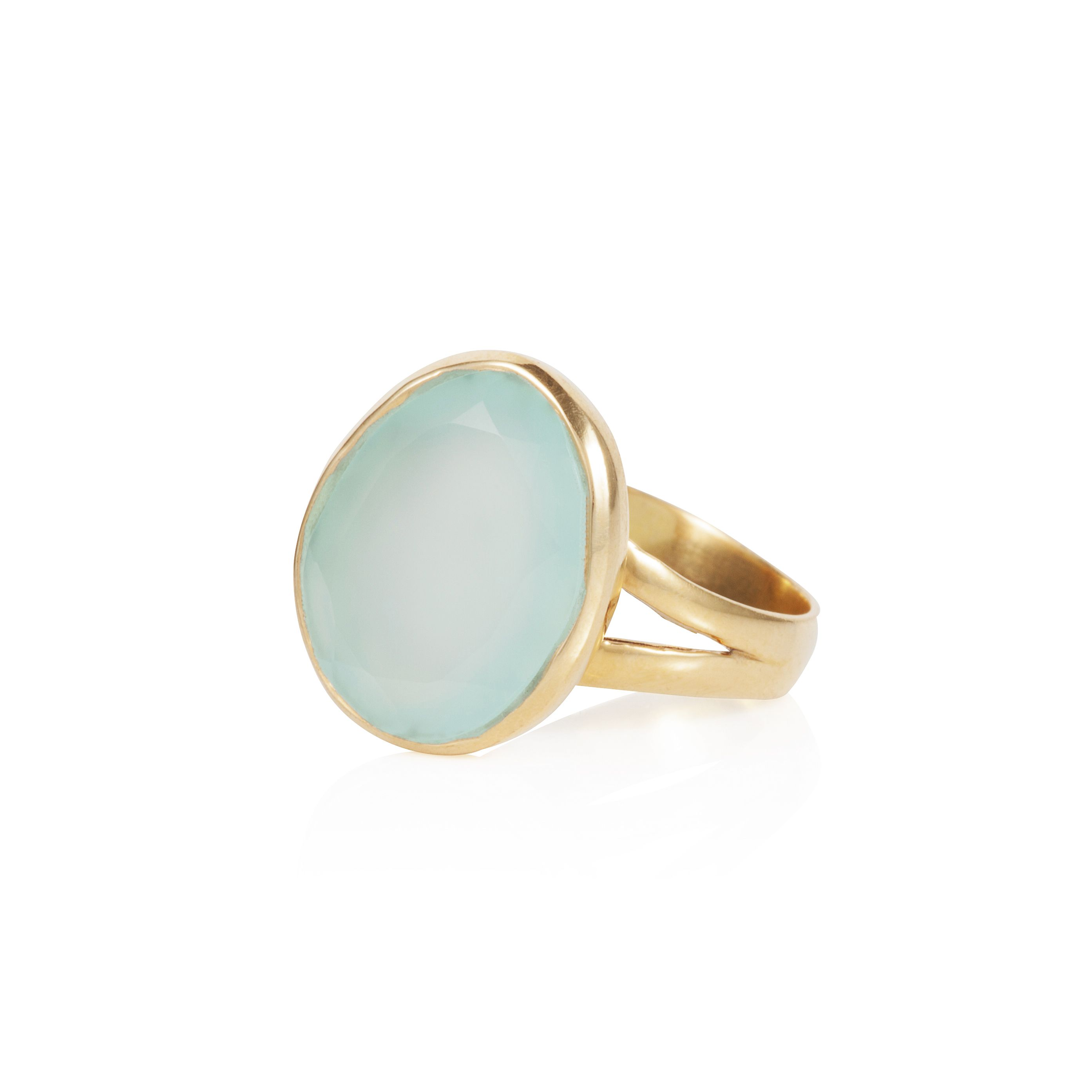 18ct gold plated sterling silver 8ct aqua quartz