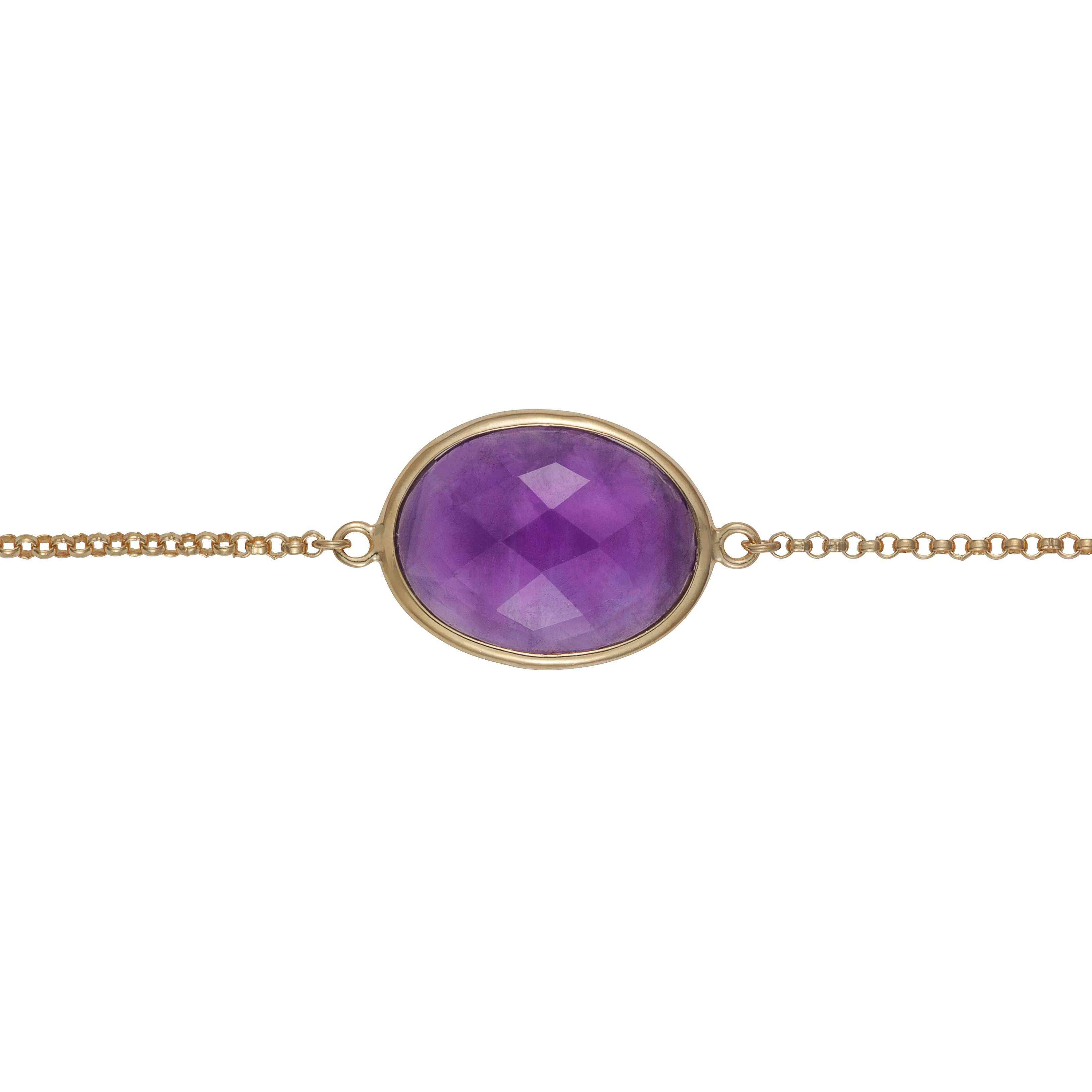 18ct gold plated sterling silver 3.20ct amethyst