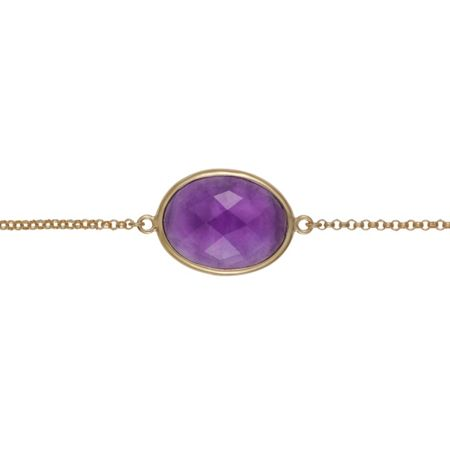 Caroline Creba 18ct gold plated sterling silver 3.20ct amethyst
