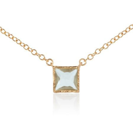 Caroline Creba 18ct gold plated sterling silver 2ct green amethy