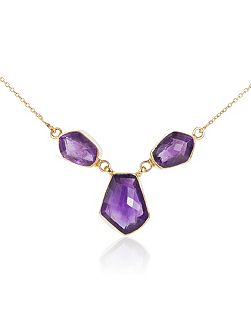 18ct gold plated sterling silver 20.50ct amethyst