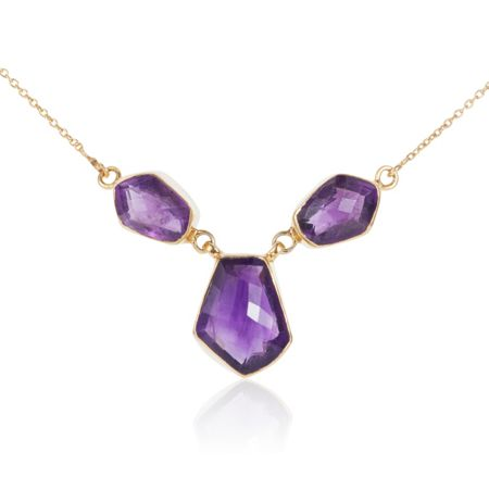 Caroline Creba 18ct gold plated sterling silver 20.50ct amethyst