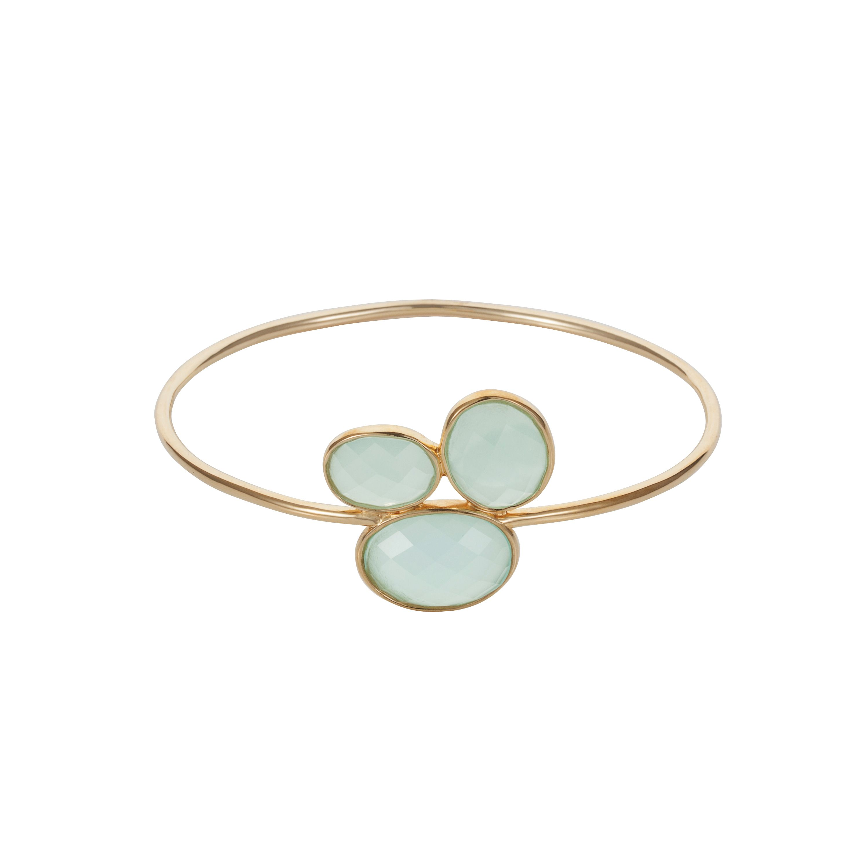 18ct gold plated sterling silver 14ct aqua chalce