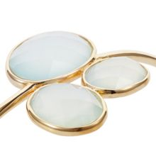 Caroline Creba 18ct gold plated sterling silver 14ct aqua chalce