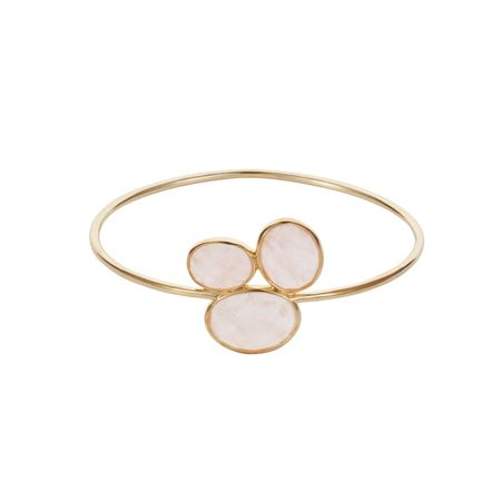 Caroline Creba 18ct gold plated sterling silver 16ct rose quartz