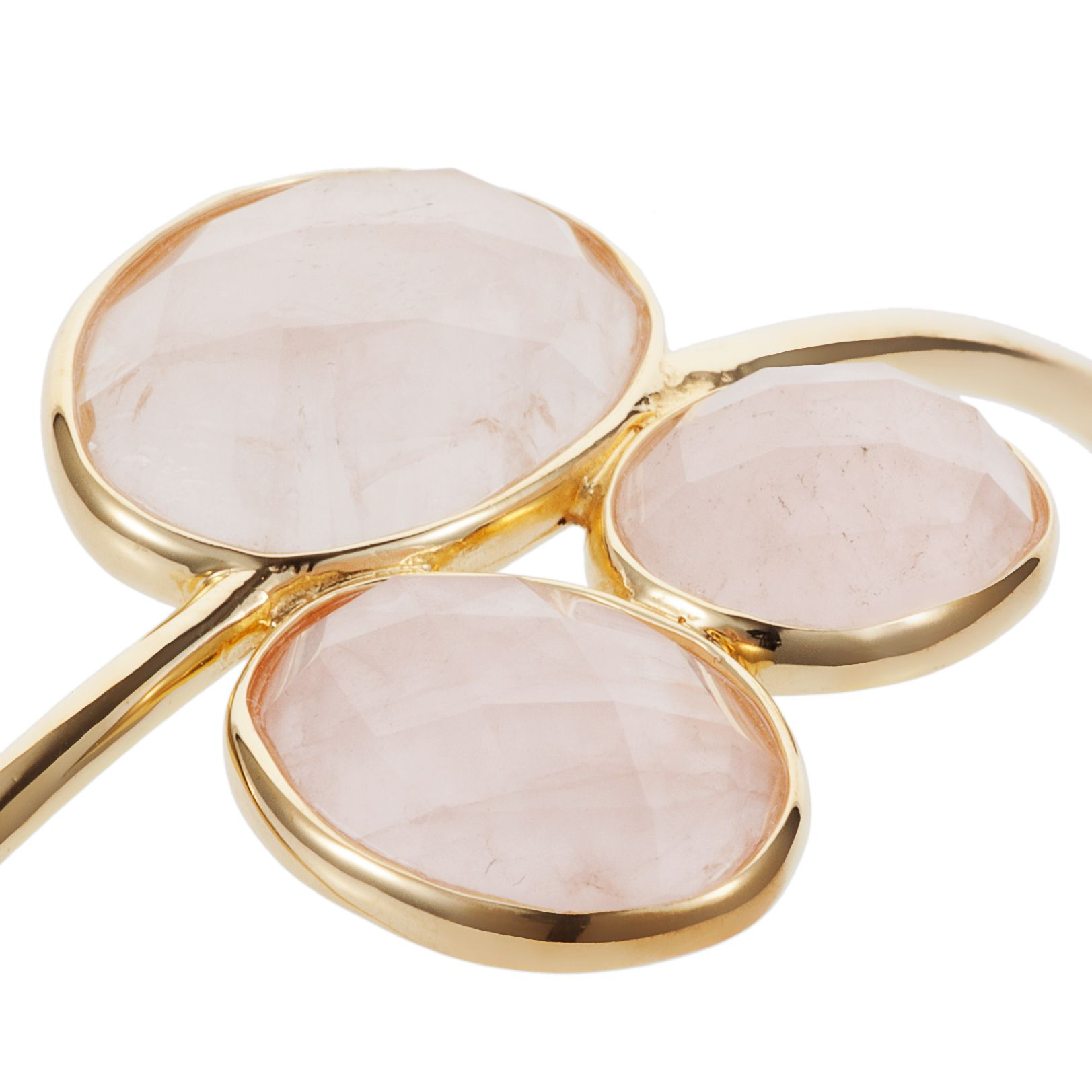 18ct gold plated sterling silver 16ct rose quartz
