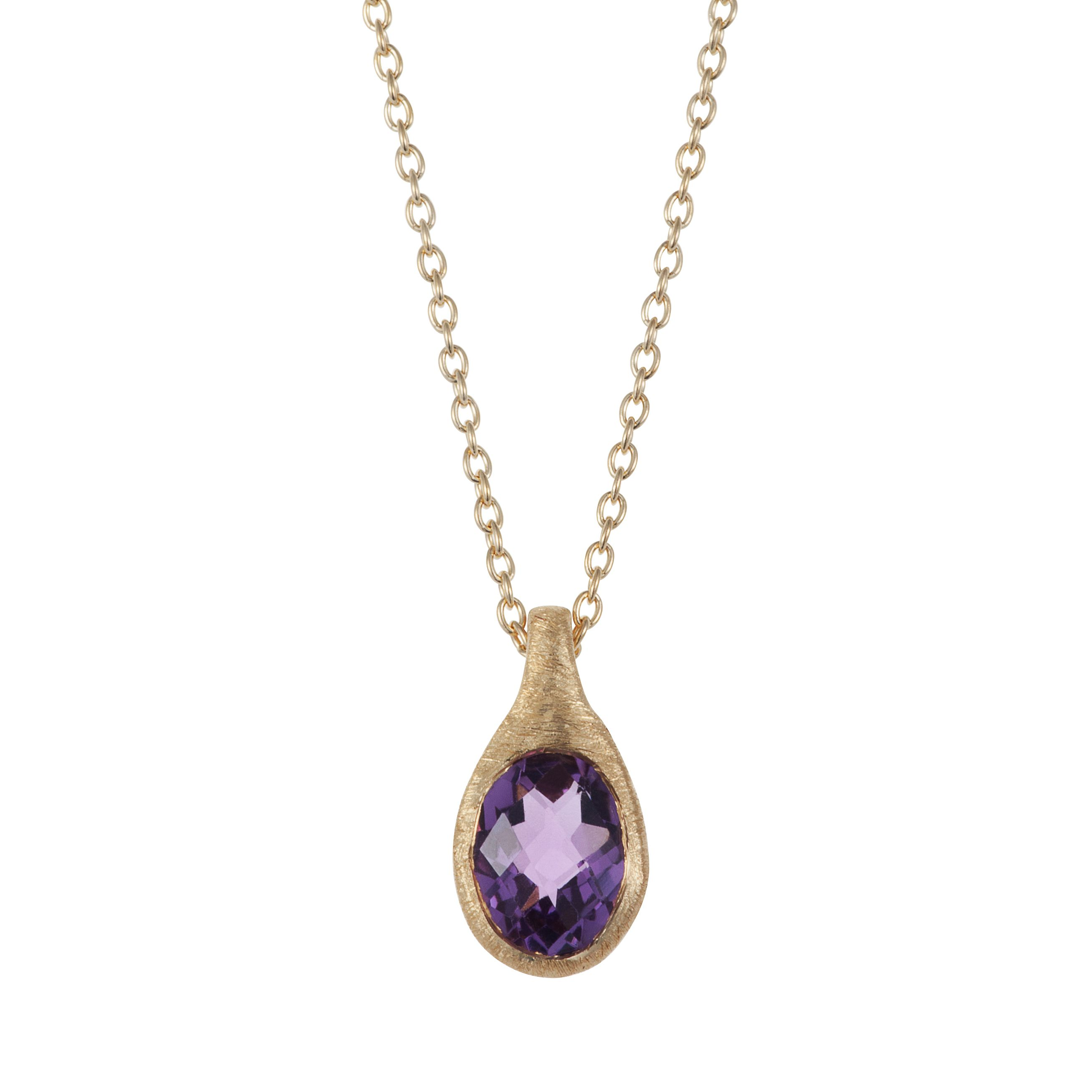 18ct gold plated sterling silver 1.25ct amethyst