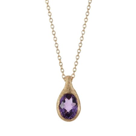 Caroline Creba 18ct gold plated sterling silver 1.25ct amethyst