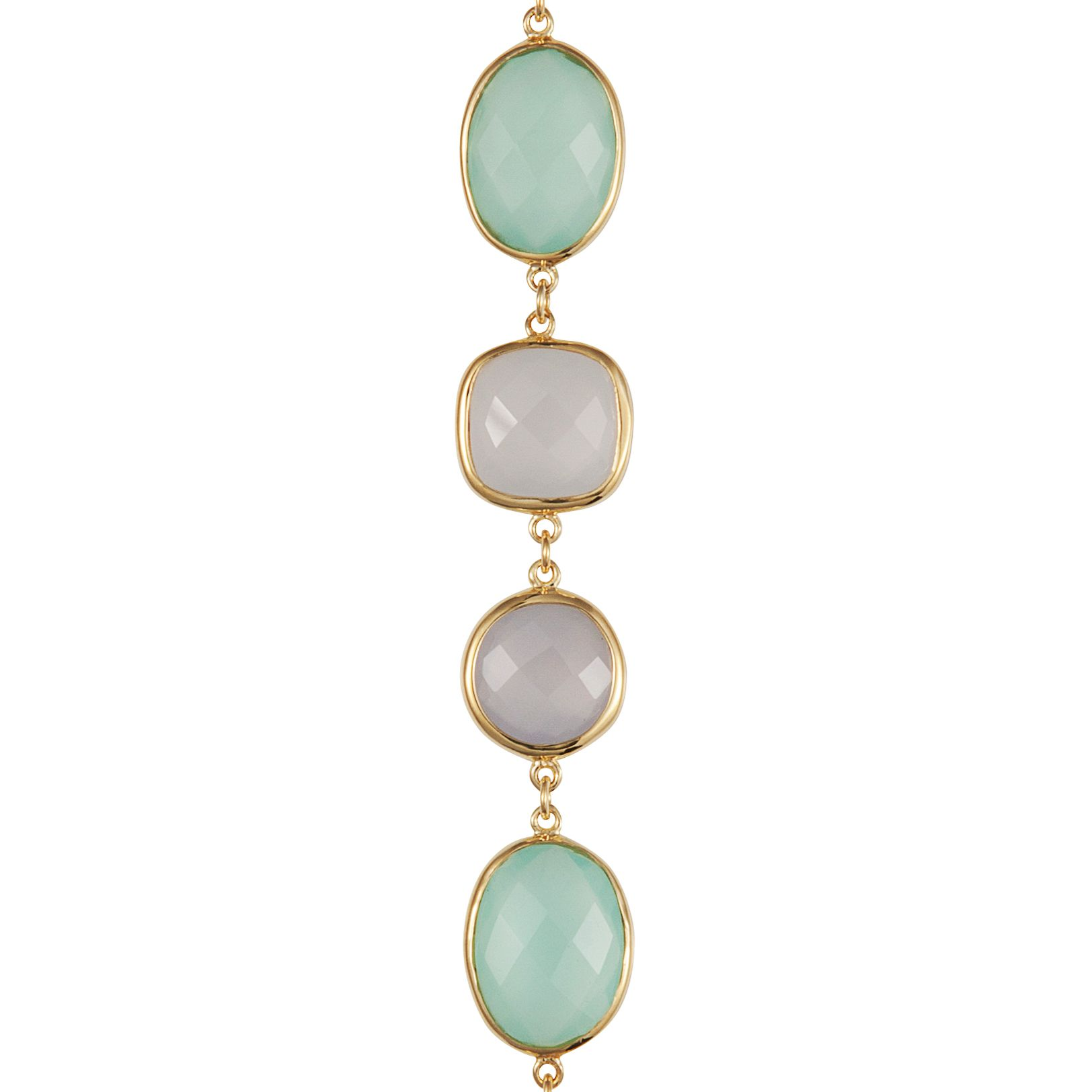 18ct gold plated sterling silver 29ct chalcedony