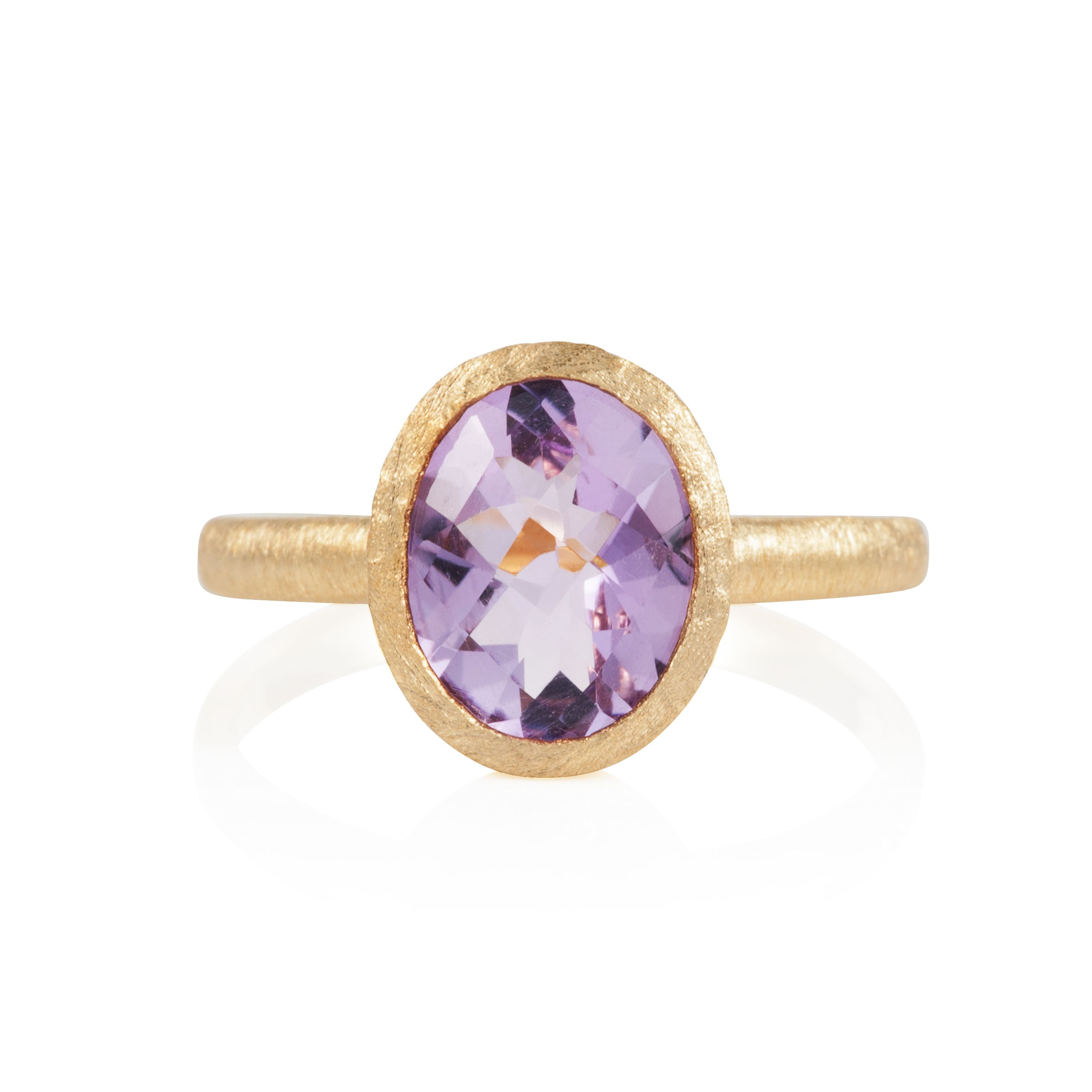 18ct gold plated sterling silver 2.25ct amethyst