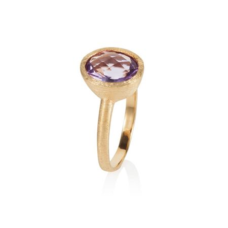 Caroline Creba 18ct gold plated sterling silver 2.25ct amethyst