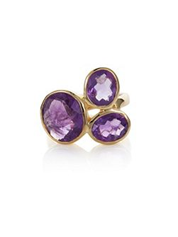 18ct gold plated sterling silver 7.95ct amethyst