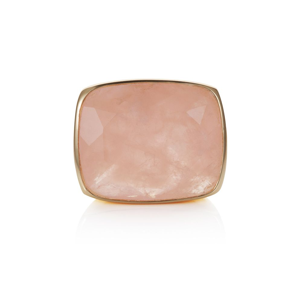 18ct gold plated sterling silver 15ct rose quartz